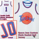 Bugs Bunny #1 Space Jam Custom Tune Squad White Jersey