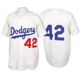Brooklyn Dodgers Legends Classic White Jersey  #42 Jackie Robinson