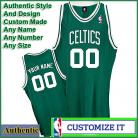 Boston Celtics  Authentic Style Road NBA Basketball Jersey Green
