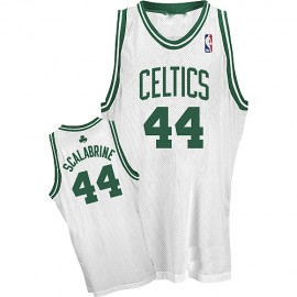 Boston Celtics Authentic Style Home Jersey White #44 Brian Scalabrine