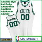 Boston Celtics  Authentic Style Home NBA Basketball Jersey White