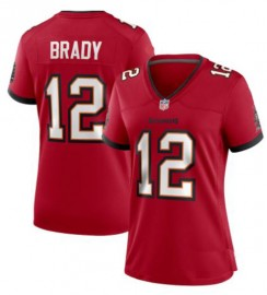 Nike Style Women's Tampa Bay Buccaneers Brady Era Home Red Jersey Number 12