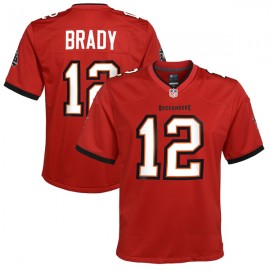 Tampa Bay Buccaneers Brady Era 12 Nike Elite Style Home Red Jersey