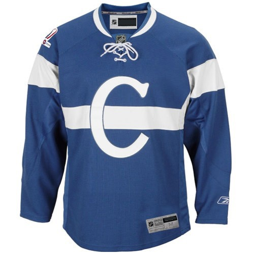 Montreal Canadiens Nhl Premium Royal Blue Centennial Hockey Jersey