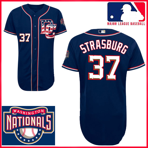 outlet store 26f8d e8301 Washington Nationals Authentic Style Road Gray Jersey #37 ...