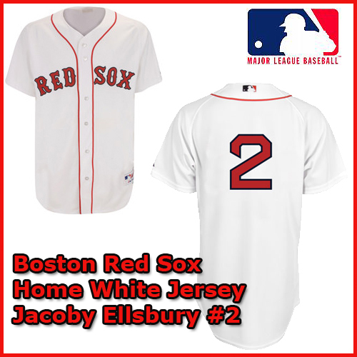 timeless design d42e9 33298 Boston Red Sox Authentic Style Home White Jersey Jacoby ...